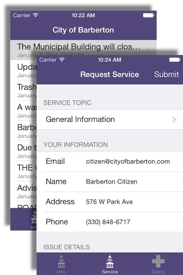City of Barberton App Screenshots