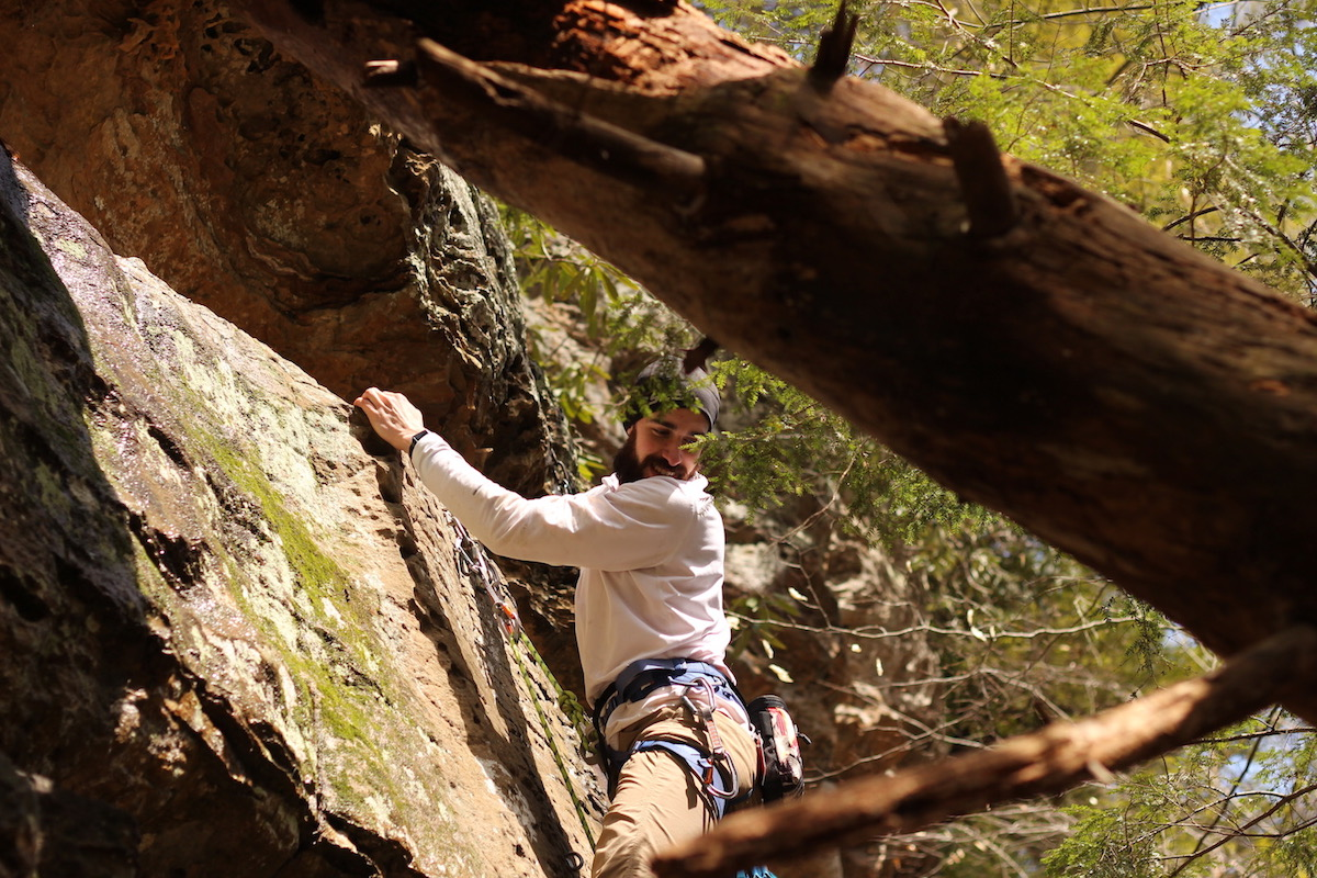 Mark conquering 'Basilisk' at the Land Before Time Wall