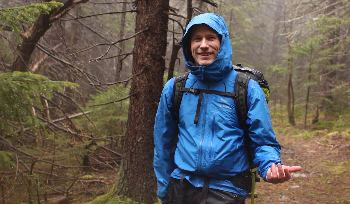 Me, enjoying the hike in the rain (thanks to some GORE-TEX® Pro)