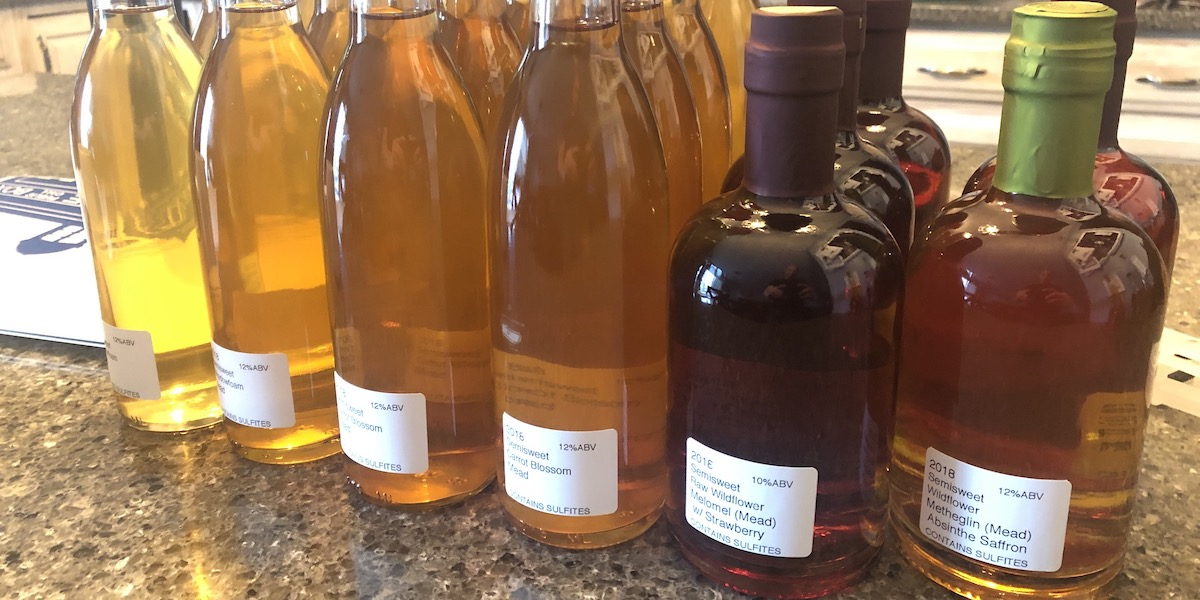 Bottled mead, waiting to be enjoyed