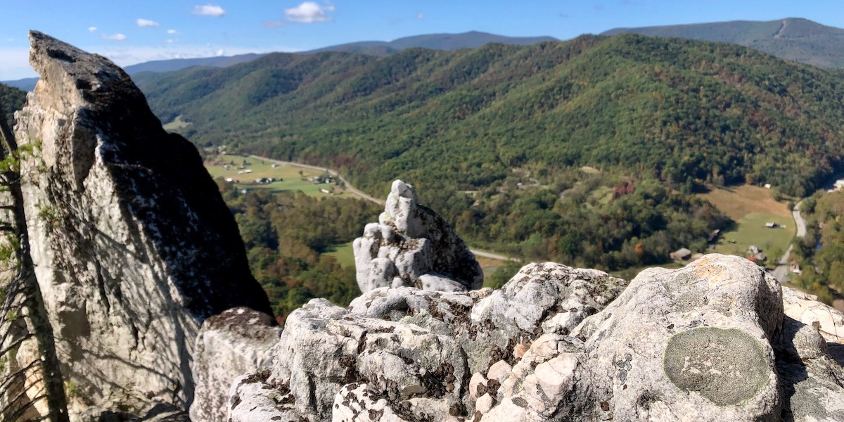 Summiting Seneca Rocks